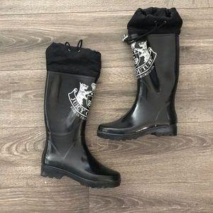 JUICY COUTURE 🖤black rain boots size 7 EUC winter